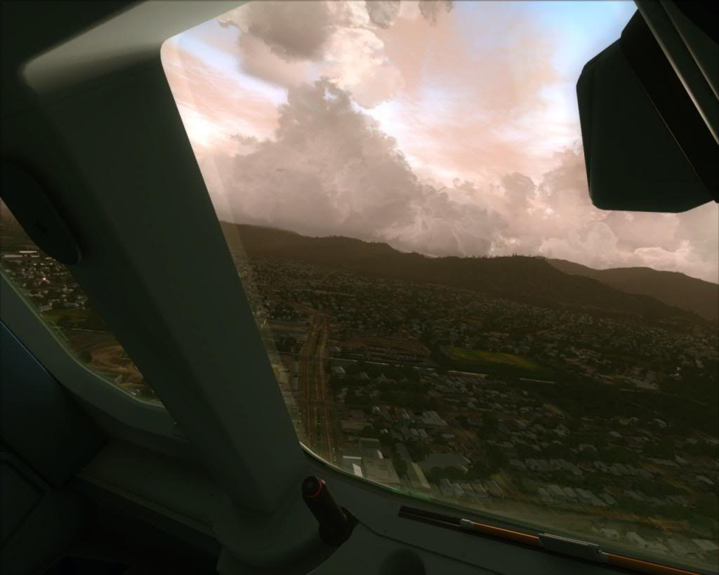 Air New Zealand landing at Cairns 7-12