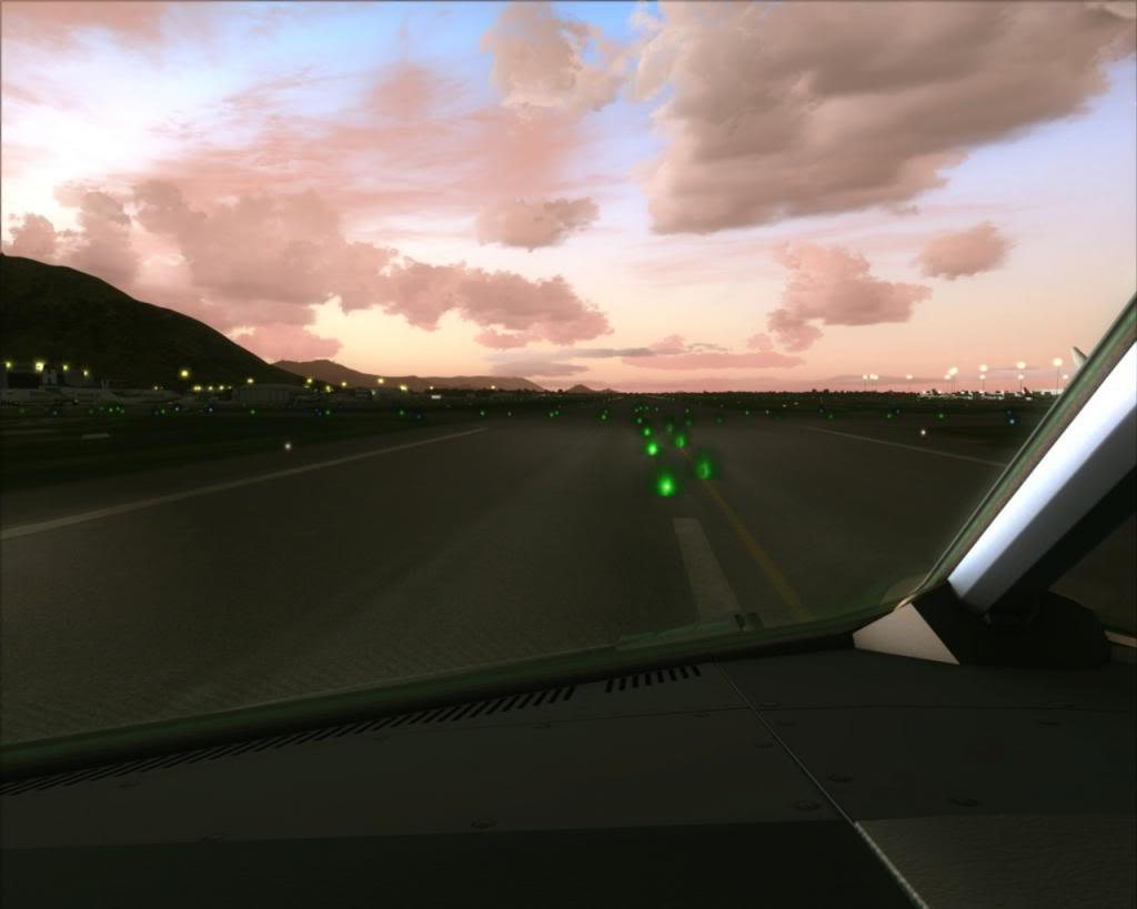 Air New Zealand landing at Cairns 8-15