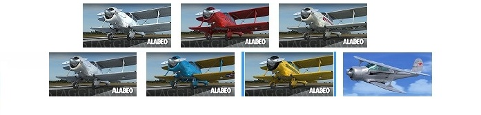 Alabeo D17 Staggerwing (Review de Rodrigo Sotto-Maior) Liveries