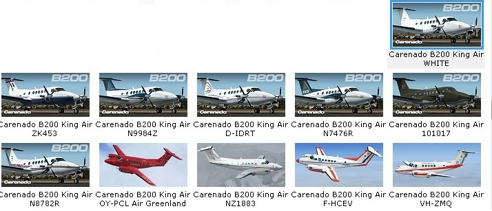 Carenado B200 King Air (Review de Rodrigo Sotto-Maior) Liveries2