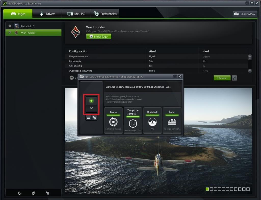 Mini tutorial ShadowPlay - GeForce Experience Sp2