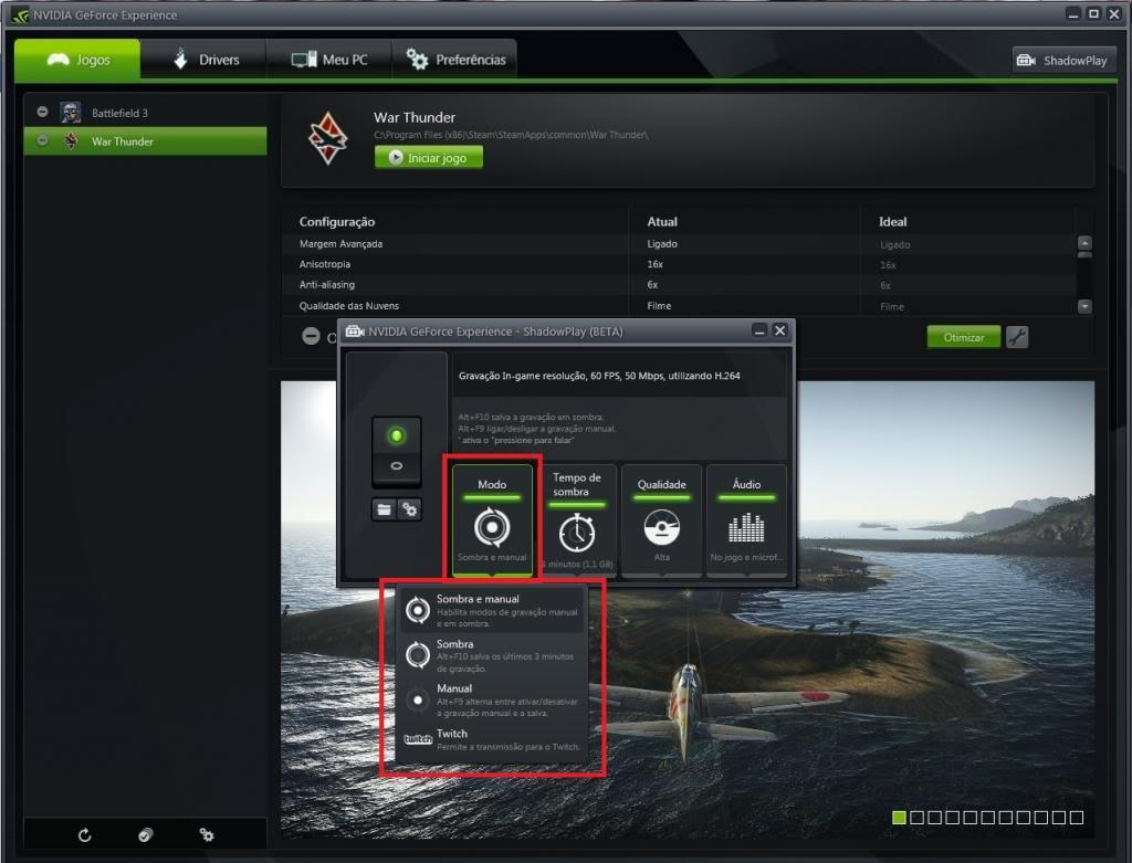 Mini tutorial ShadowPlay - GeForce Experience Sp3