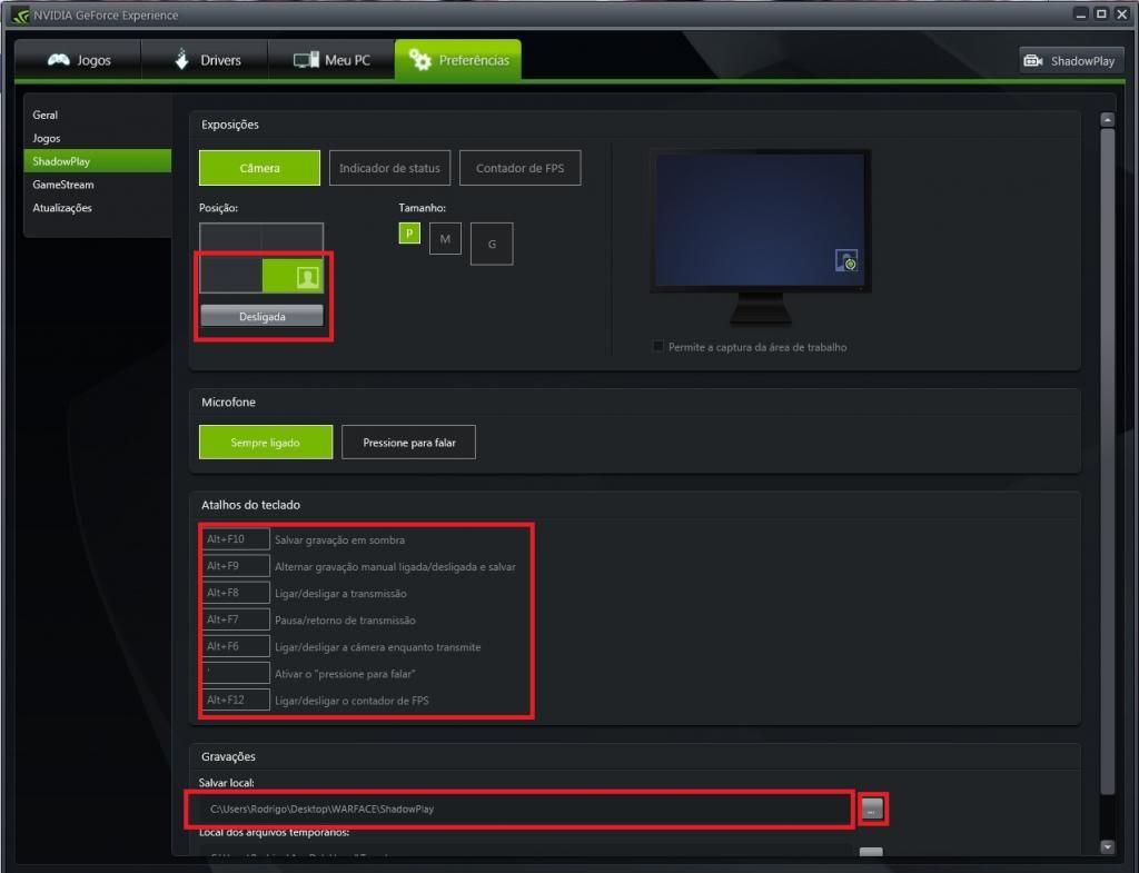 Mini tutorial ShadowPlay - GeForce Experience Sp7