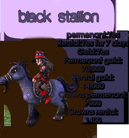 Guide for all mounts BLACKSTALLION