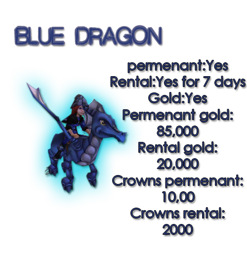 Guide for all mounts Bluedragon