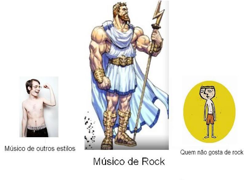 Como músicos de rock se vêem... Rock