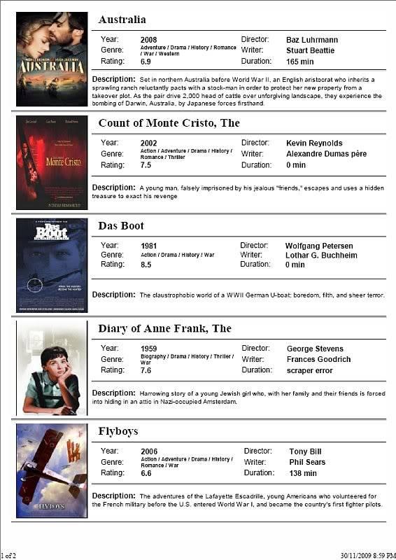 Movie Card Easy Print V1.1 ScreenshotA4