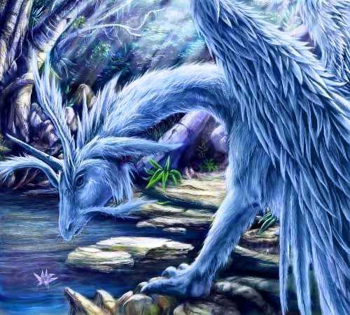 If I were a dragon ... I would look like this .. - Page 37 BlueDragonUnicorn