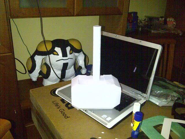 Martillo de Thor - Iniciacion en el Papercraft (mjolnir) Martillo1-1