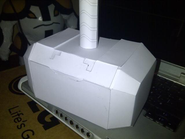 Martillo de Thor - Iniciacion en el Papercraft (mjolnir) Martillo2-1