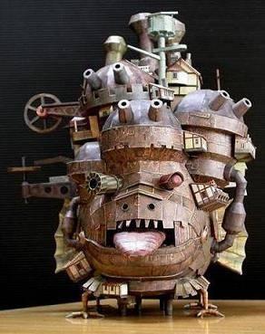 Nuevo Proyecto! Castillo Ambulante de Howl Howls-paper-craft-0