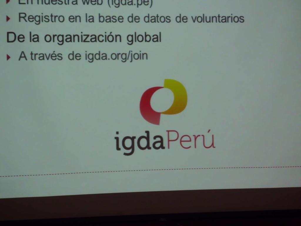 En la Segunda Reunion de la IGDA Perú 1