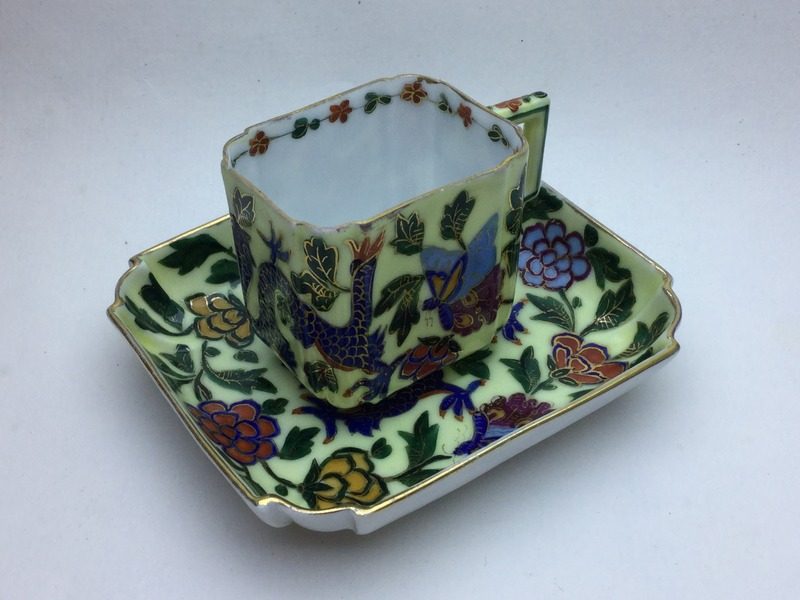 Porcelain cup and saucer with lustre decoration IMG_4269