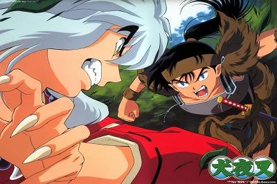 duelos 1 vs 1 de naruto, dragon ball e inuyasha
