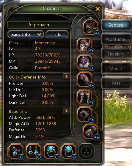 Aspenach Mercenary SDN Build  CurrentStats