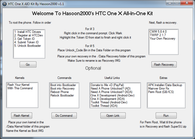 TOOL] HTC One X All-In-One Toolkit V1 1 [6-9-12] [PERM ROOT][Noob-Proof]