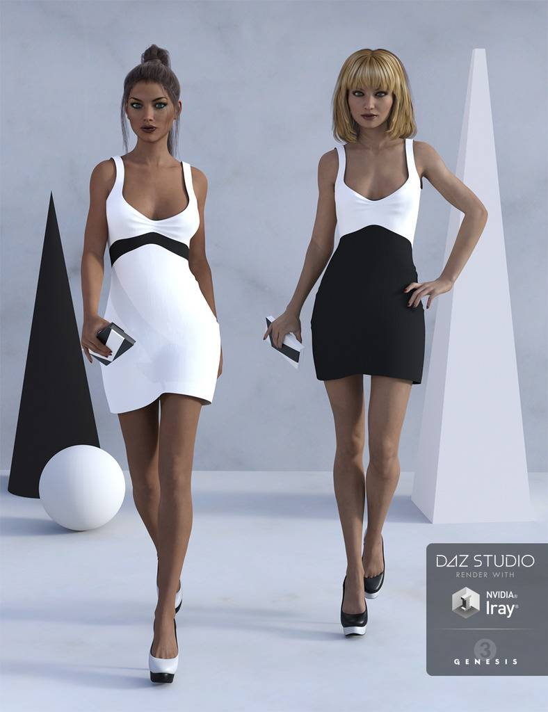 Little Black and White Dress :-) 00-main-littleblackwhite-daz3d_zps7aib8nyk