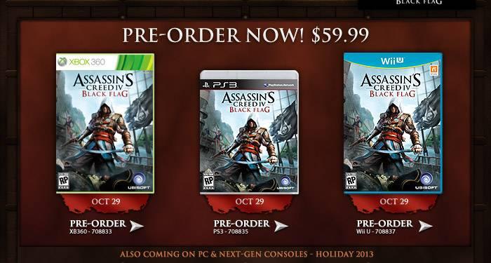 Assassin's Creed 4 Black Flag confirmed for WiiU AssassinsCreed4boxart_zps21918e36
