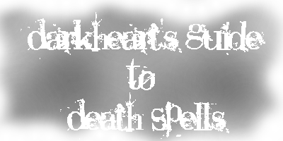 Illustrated Guide to Death Spells Bannerdeath