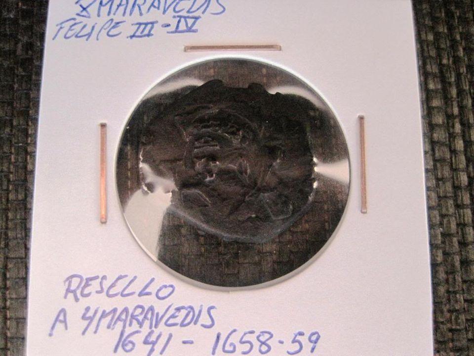 VIII maravedis de Felipe III o IV. Resellados a VIII de 1641/2 y con el anagrama de 1658/9 en Sevilla. E07a47d9-9ad4-486d-8172-82f01efe0490