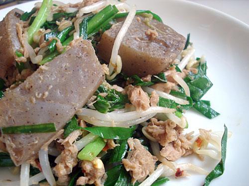 [Giới thiệu] Sơ lược về Konnyaku và Shirataki - Thực phẩm giảm cân tuyệt vời đến từ Nhật Bản Konnyaku_tuna_itame