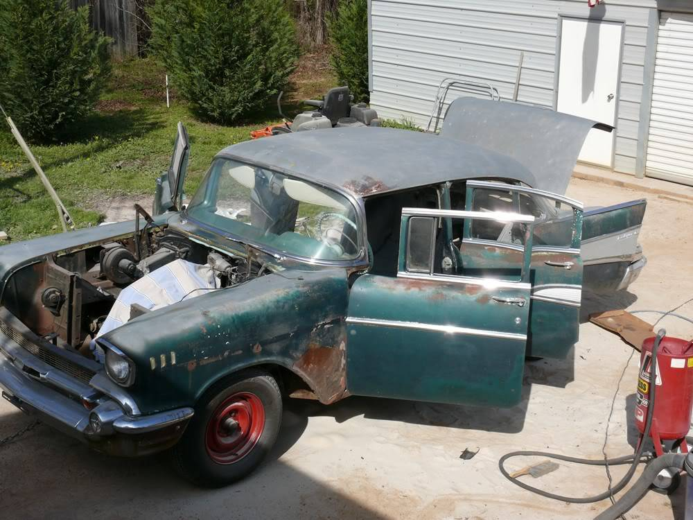 my other project....a 57 bel air. 001-1