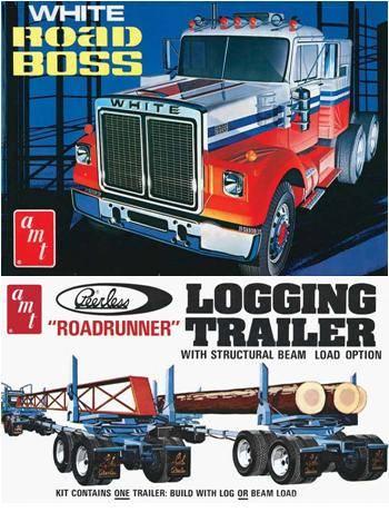 White Road Boss et Logging Trailer AMT Boxart03