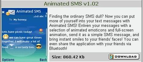 Nokia N Series Applications AnamatedSMS