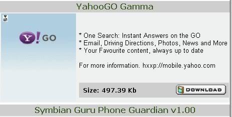 Nokia N Series Applications 3 Yahoo