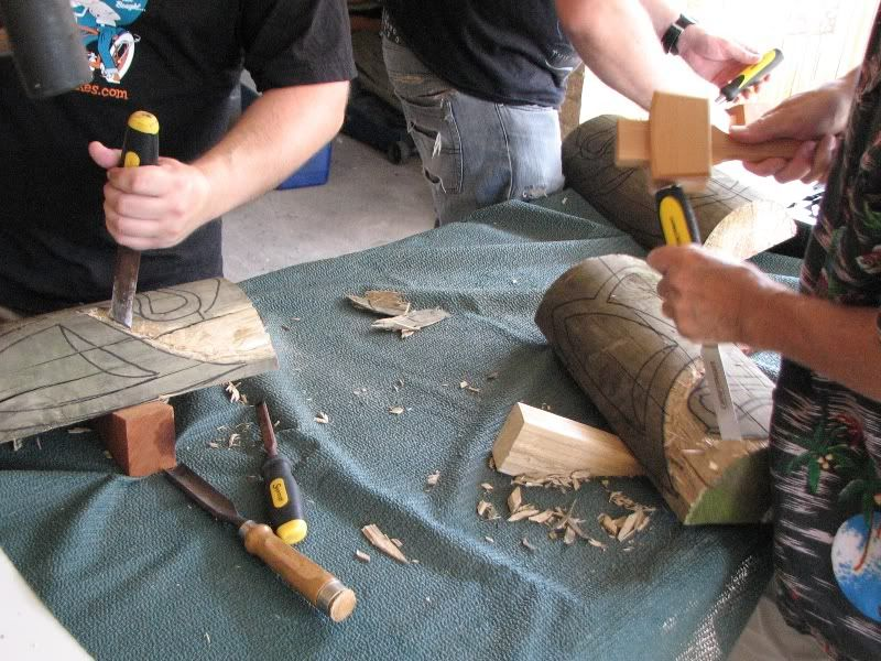 "Sydney ""Tiki Beat"" carving workshop (lottsa pics) TikiBeat021"
