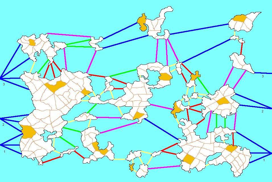 Planisferio Mundial * Datos p/Todos * Husos Horarios * División Geográfica * Reg. Maravillas * Conexiones Fluviales SimilmapaMaravillasyataquesfluvialesmodif