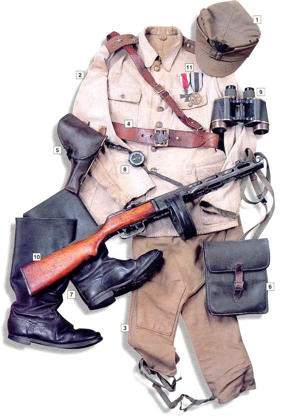 Los uniformes de la Segunda Guerra Mundial 2ndLt1stInfantryDivisionPolishPeoplesArmyUSSR1943