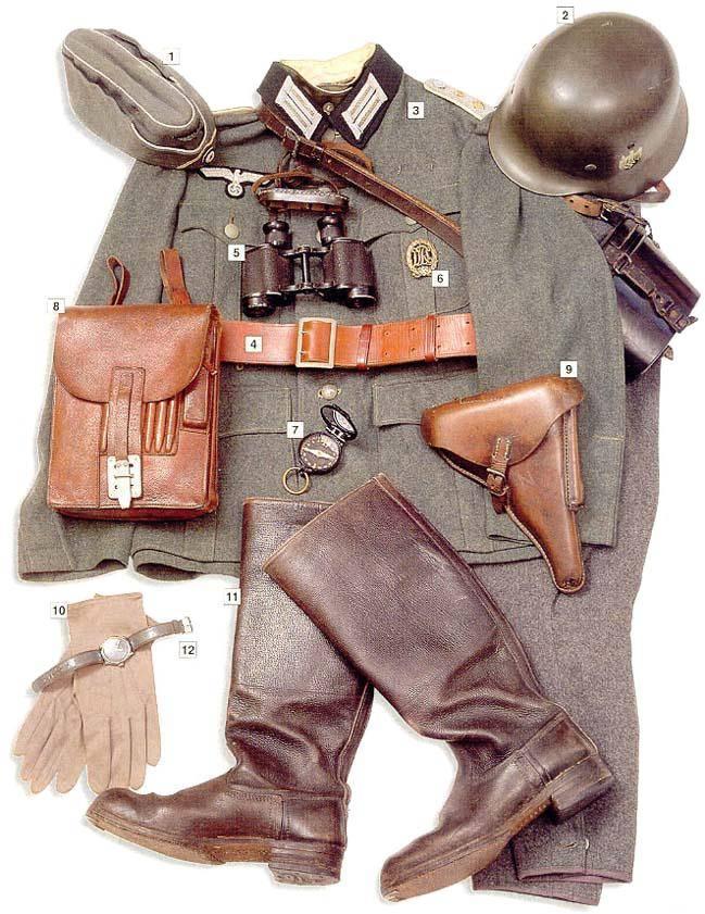 Los uniformes de la Segunda Guerra Mundial GermancaptainHauptmann1940