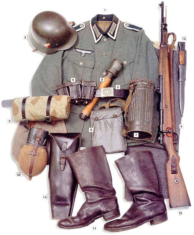 Los uniformes de la Segunda Guerra Mundial GermancorporalUnteroffizier1939-1940
