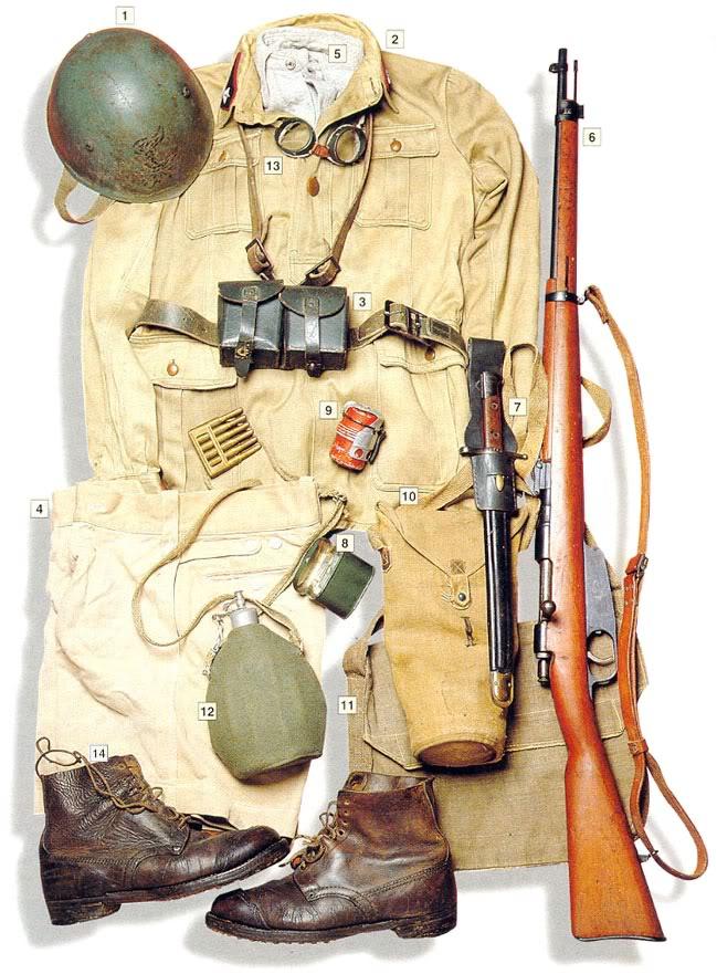 Los uniformes de la Segunda Guerra Mundial ItalianengineerNorthernAfrica1942