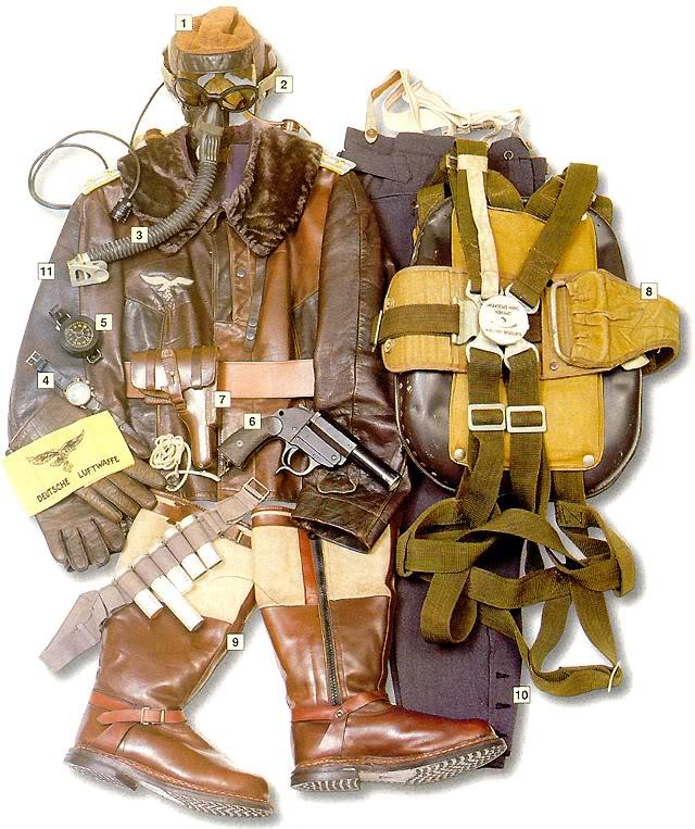 Los uniformes de la Segunda Guerra Mundial LuftwaffeHauptmannCaptainFW-190-A8pilotJagdgeschwader300WildeSauGermany1944