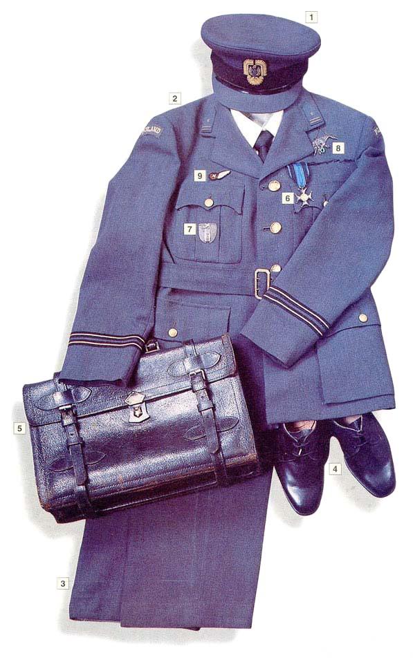 Los uniformes de la Segunda Guerra Mundial MajorPolishAFintheUK1940-45