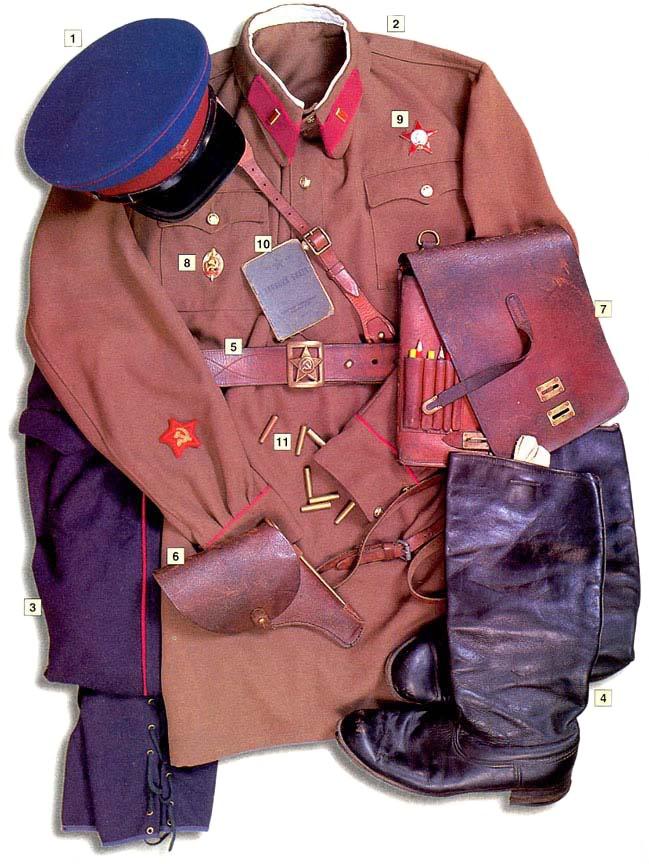 Los uniformes de la Segunda Guerra Mundial NKVDlieutenant1940-41