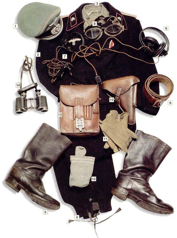 Los uniformes de la Segunda Guerra Mundial Panzertruppeleutnant1939