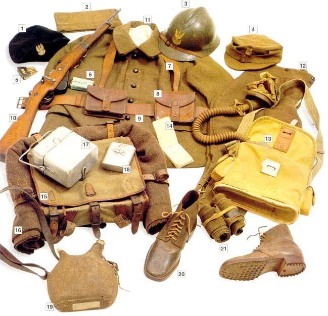 Los uniformes de la Segunda Guerra Mundial Private1stGrenadierDivisionPolishArmyinFrance1940