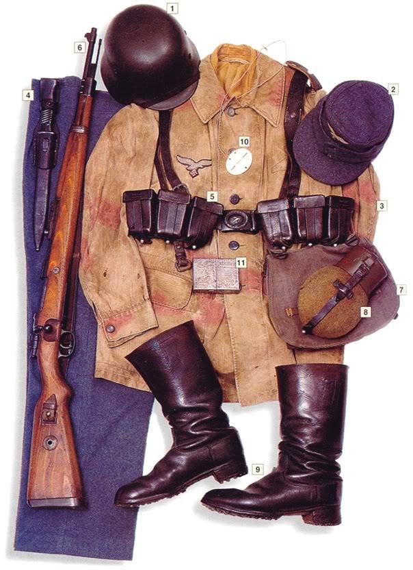Los uniformes de la Segunda Guerra Mundial PrivateLuftwaffeFrance1944