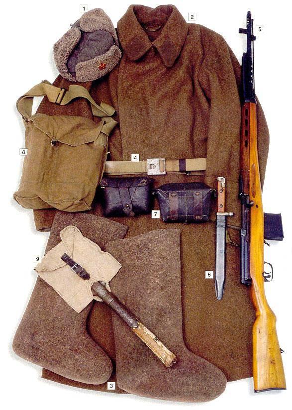 Los uniformes de la Segunda Guerra Mundial PrivateRedArmy1939-41