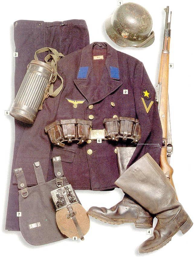 Los uniformes de la Segunda Guerra Mundial PrivatefirstclassMatrosengefreiterKriegsmarinelandingunits1940