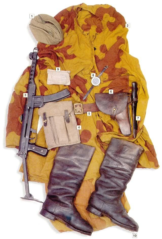 Los uniformes de la Segunda Guerra Mundial RedArmyofficerreconaissanceunitca1943