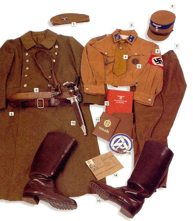 Los uniformes de la Segunda Guerra Mundial SA-TruppfuhrerSergeant1stclassSA-Standarte143Alsace1941