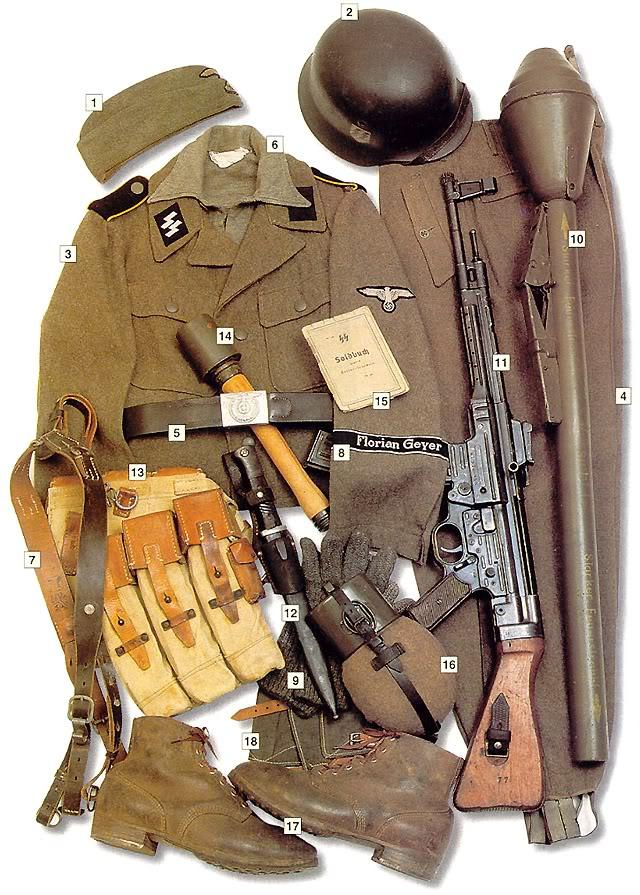 Los uniformes de la Segunda Guerra Mundial SS-ReiterPrivate8SS-KavallerieDivisionFlorianGeyersummer1944