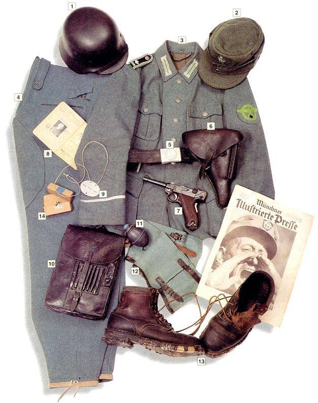 Los uniformes de la Segunda Guerra Mundial SchtzupolizeihauptwachtmeisterMastersergeant1943