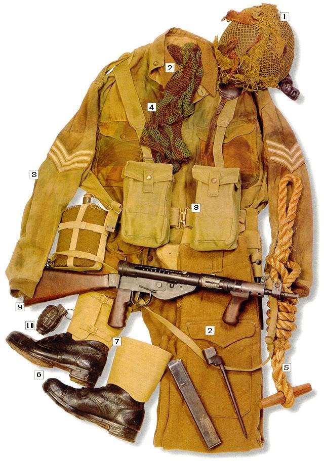 Los uniformes de la Segunda Guerra Mundial SergeantUK1stAirborne1944
