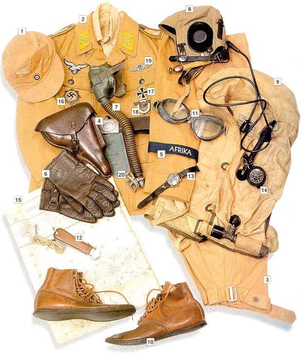 Los uniformes de la Segunda Guerra Mundial SergeantmajorFeldwebelLuftwaffeAfrica1943