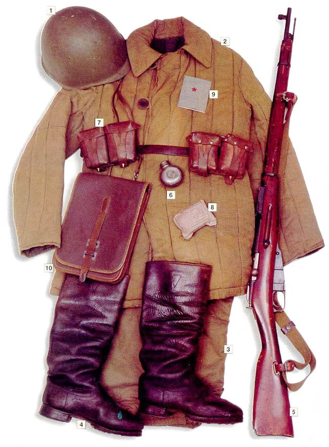 Los uniformes de la Segunda Guerra Mundial Sovietinfantry1941